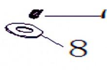 Podložky ?6×?16×1mm