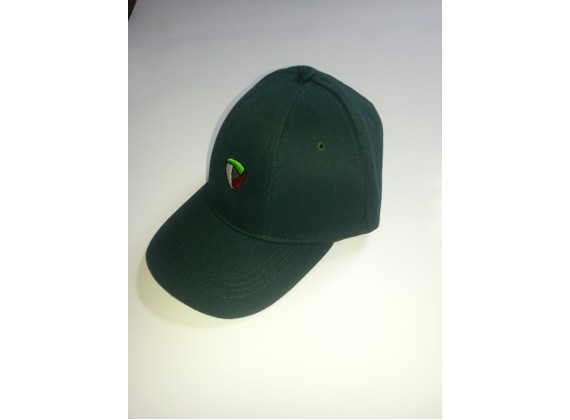 Čepice s kšiltem zelená