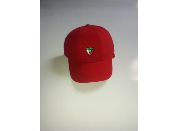 Čepice s kšiltem červená