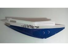 Pravý dekorační plast modrý ZZ