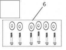Šrouby pro upevnění sedadla