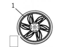 Ráfek předního kola  MT2.50×14