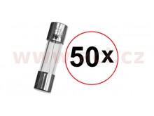 pojistka skleněná 5x20 5A (sada 50ks)