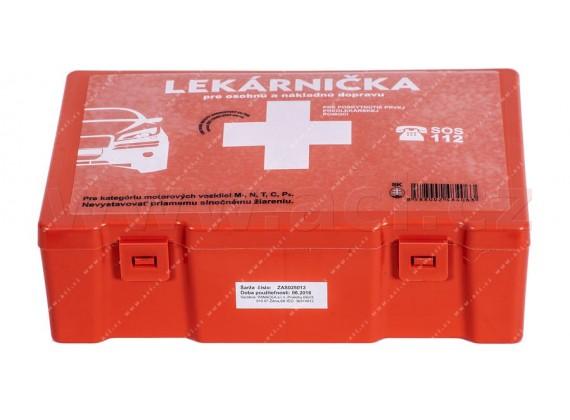 autolékárnička SK - plastová (výbava dle vyhlášky MZ SR č.143 / 2009) oranžová