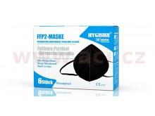 (sada 6 ks) respirátor FFP2 černý