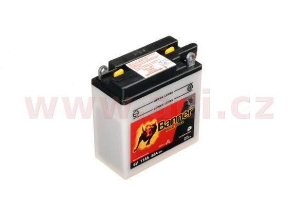 baterie 6V, 6N11A-1B, 11Ah, 88A, BANNER Bike Bull 122x62x132
