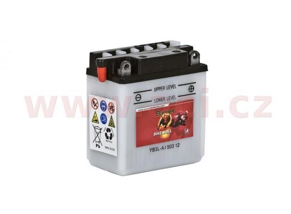 baterie 12V, YB3 l-A, 3Ah, 32A, BANNER Bike Bull 98x56x110