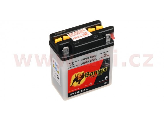 baterie 12V, YB3 l-B, 3Ah, 32A, BANNER Bike Bull 98x56x110