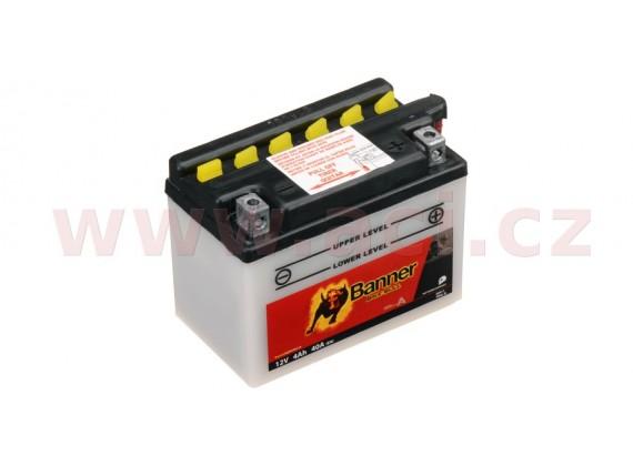 baterie 12V, YB4 l-B, 4Ah, 40A, BANNER Bike Bull 120x70x92