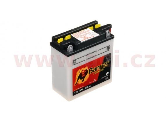 baterie 12V, YB5 l-B, 5Ah, 50A, BANNER Bike Bull 120x60x130