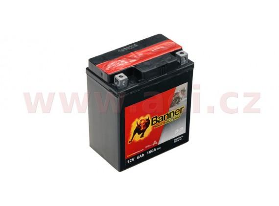 baterie 12V, YTX7 l-BS, 6Ah, 100A, BANNER Bike Bull AGM 114x71x131