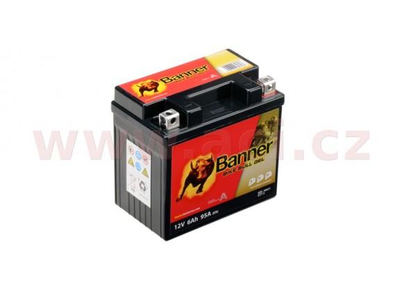 baterie gelová 12V, GT7-3, 6Ah, 95A, BANNER Bike Bull GEL 114x71x106