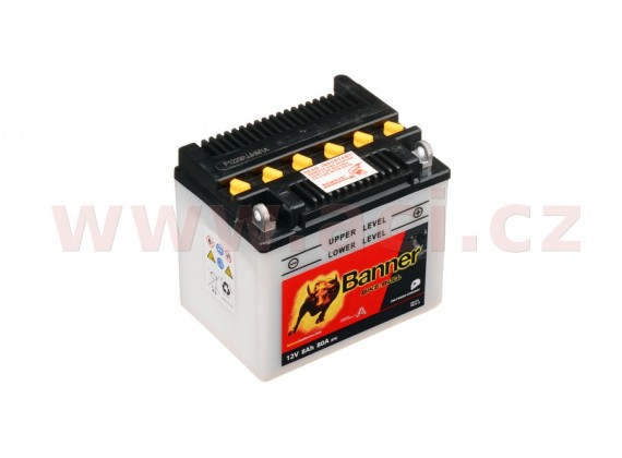 baterie 12V, YB7C-A, 8Ah, 80A, BANNER Bike Bull 130x90x114