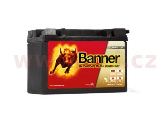 9Ah baterie, 120A, levá BANNER Running Bull AGM BACKUP 150x88x106