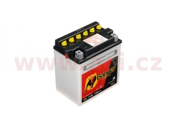 baterie 12V, YB10 l-A2, 11Ah, 140A, BANNER Bike Bull 135x90x145