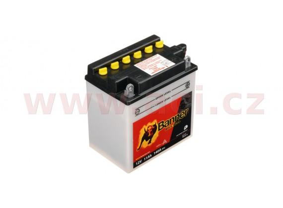 baterie 12V, YB10 l-B, 11Ah, 140A, BANNER Bike Bull 135x90x145