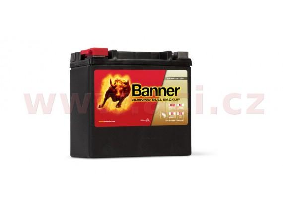 12Ah baterie, 200A, levá BANNER Running Bull AGM BACKUP 150x88x145