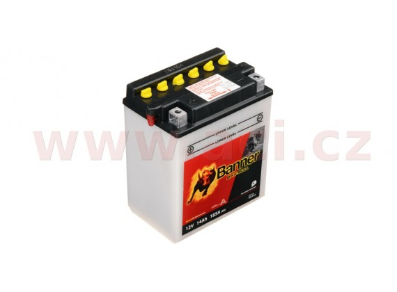 baterie 12V, YB14-A2, 14Ah, 185A, BANNER Bike Bull 134x89x166