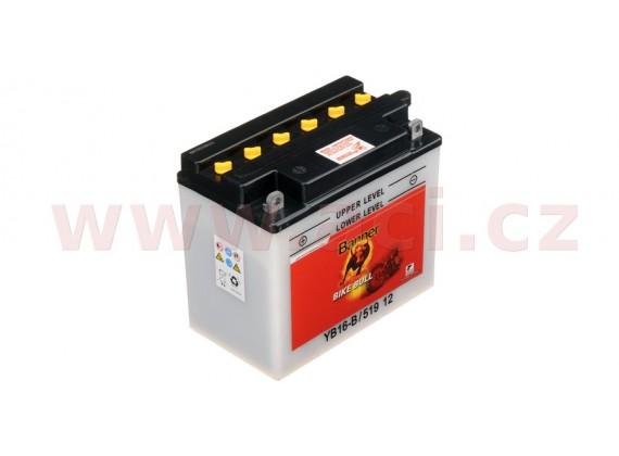 baterie 12V, YB16-B, 19Ah, 230A, BANNER Bike Bull 175x100x155