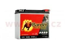 baterie 12V, ETX 20L, 18Ah, 310A, BANNER Bike Bull AGM PRO 175x88x155