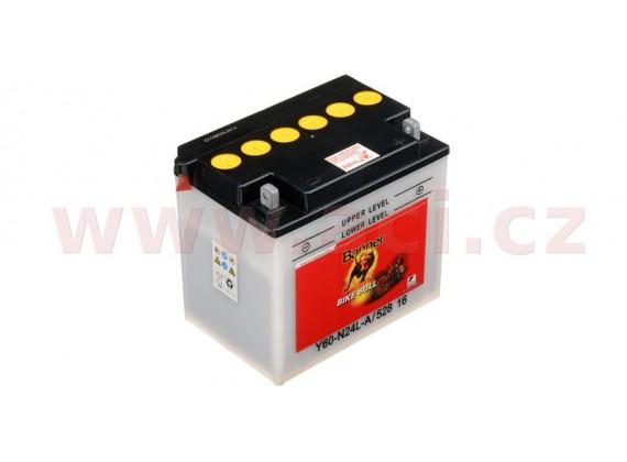 baterie 12V, Y60-N24 l-A, 28Ah, 280A, BANNER Bike Bull 184x124x175