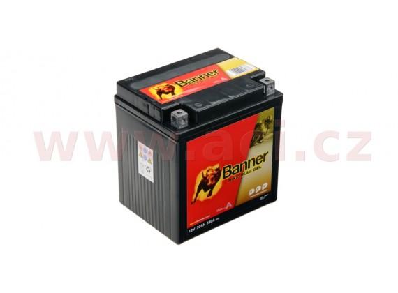 baterie gelová 12V, GT30-3, 30Ah, 380A, BANNER Bike Bull GEL 168x127x177