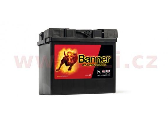 30Ah baterie, 300A, pravá BANNER Starting Bull 187x128x165