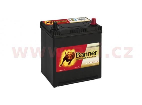 38Ah baterie, 400A, pravá BANNER Running Bull EFB 187x127x204(226) (pro vozidla Mazda, Mit