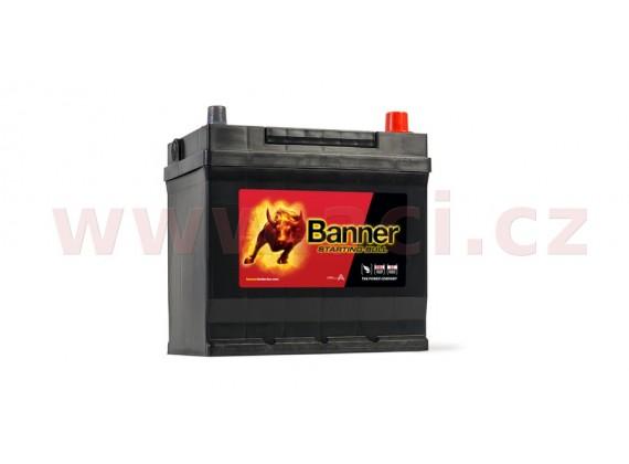 45Ah baterie, 300A, pravá BANNER Starting Bull 218x135x203(225)