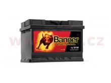 55Ah baterie, 450A, pravá BANNER Starting Bull 241x175x175