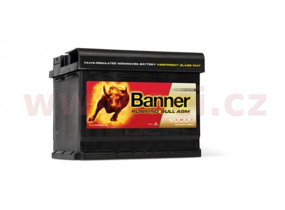 60Ah baterie, 640A, pravá BANNER Running Bull AGM 241x175x190