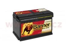 65Ah baterie, 650A, pravá BANNER Running Bull EFB 278x175x175