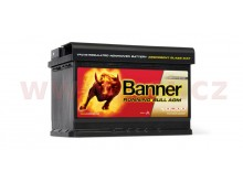 70Ah baterie, 720A, pravá BANNER Running Bull AGM 278x175x190