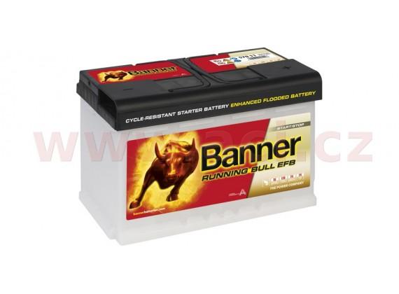 70Ah baterie, 660A, pravá BANNER Running Bull EFB 278x175x190