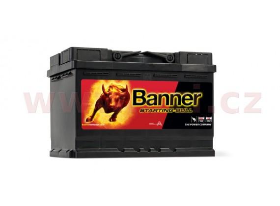 72Ah baterie 650A, pravá BANNER Starting Bull 278x175x190