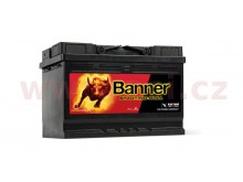 72Ah baterie, 650A, levá BANNER Starting Bull 278x175x190