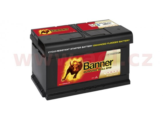 75Ah baterie, 730A, pravá BANNER Running Bull EFB 315x175x175