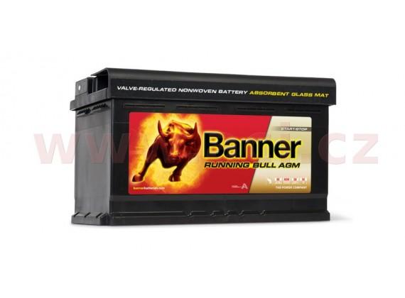 80Ah baterie, 800A, pravá BANNER Running Bull AGM 315x175x190
