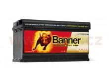 92Ah baterie, 850A, pravá BANNER Running Bull AGM 354x175x190