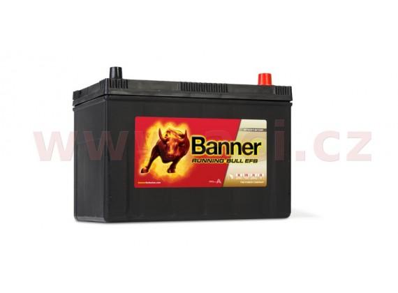 95Ah baterie, 760A, pravá BANNER Running Bull EFB 303x173x203(225)