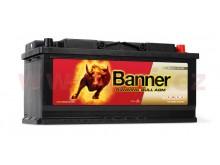 105Ah baterie, 950A, pravá BANNER Running Bull AGM 394x175x190