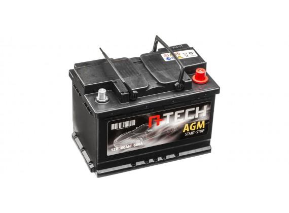 60Ah AGM baterie START-STOP, 680A, pravá A-TECH AGM 242x175x190