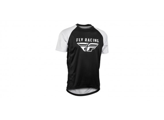 dres SUPER D, FLY RACING - USA (černá/bílá)