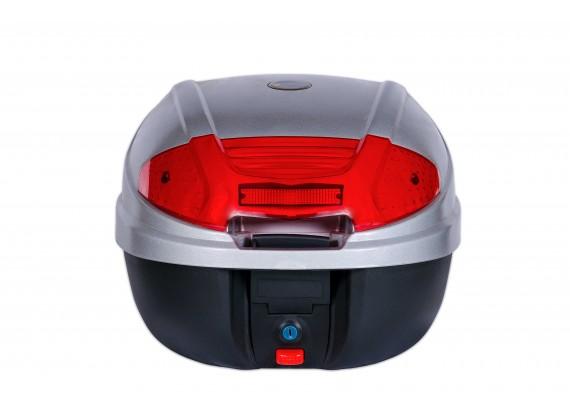 Kufr zadní CAPIRELLI C30-0830P stříbrný o objemu 30l, zátěž 3,4kg