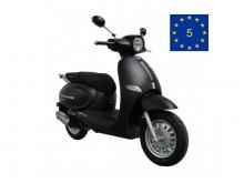 Cappucino 125 černá mat - EURO 5