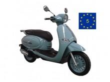Cappucino 125 retro modrá - EURO 5