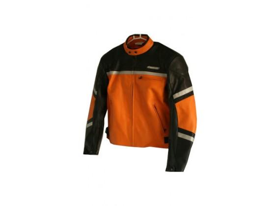 Motocyklová bunda kožená pánská