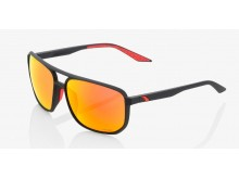 sluneční brýle KONNOR - HIPER červená čočka, 100% (černá)