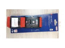 popruh na zavazadla s 3 místným kódem (délka 192 cm, šířka 5,2 cm), ABUS (červený)