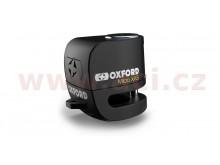 zámek kotoučové brzdy Micro XA5, OXFORD (integrovaný alarm, černý, průměr čepu 5,5 mm)